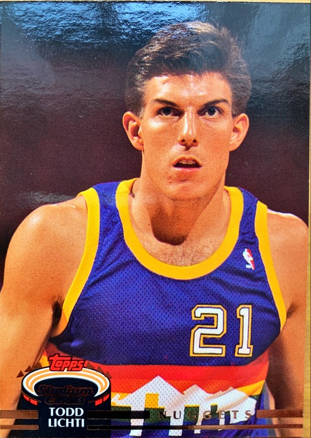 NBAカード 92-93TOPPS Todd Lichti #28 NUGGETS