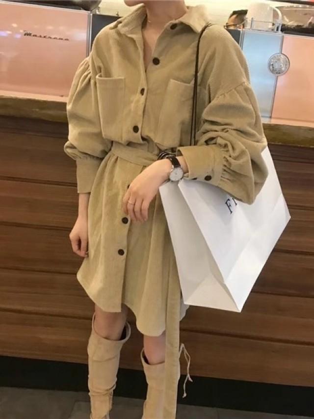 オーバーフィットサイドスリットシャツ シャツ オーバーサイズ シャツワンピース 韓国ファッション