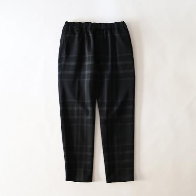 ORIGINAL JACQUARD CHECK TAPERED PANTS - BLACK