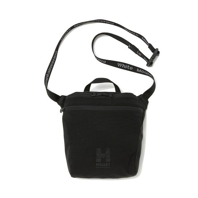 WM × MILLET SHOULDER BAG 'JAUNTY' - BLACK