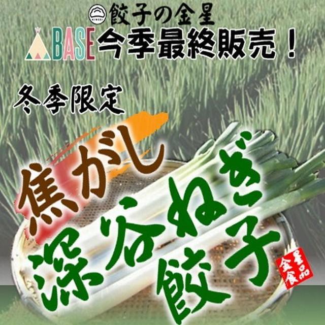【冬季限定】「焦がし深谷ねぎ餃子」40個入【冷凍】