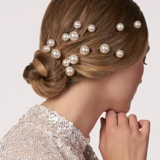 【Elizabeth Bower】Bubble Pins パールヘアピン5本セット