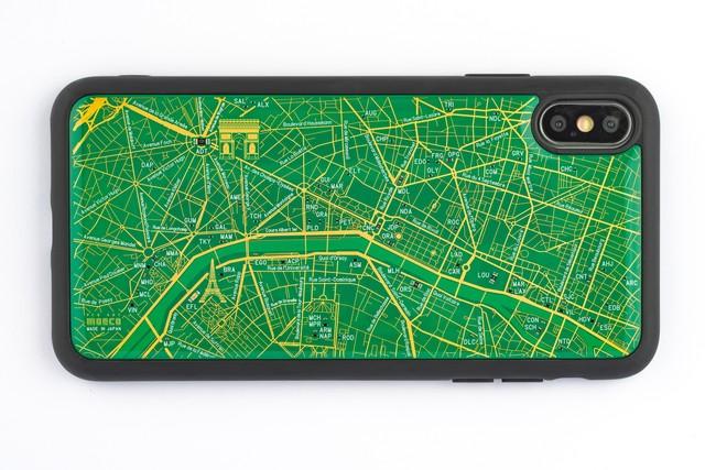 FLASH Paris回路地図 iPhone XS Maxケース 緑【東京回路線図A5クリアファイルをプレゼント】