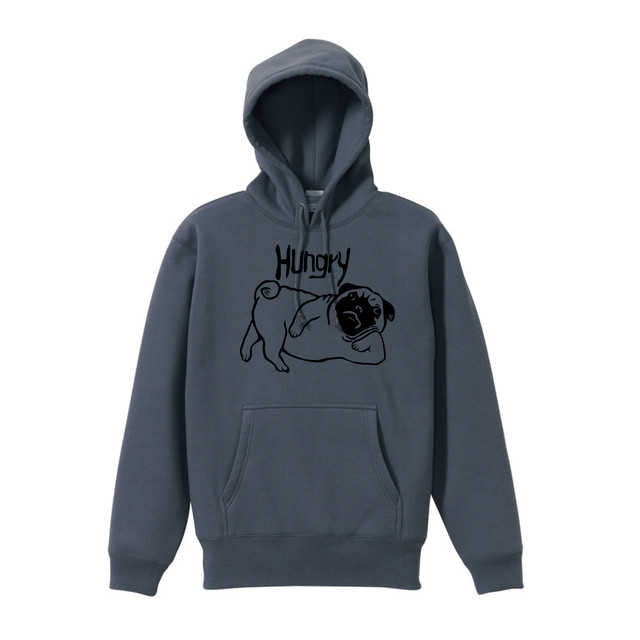 [PREORDER]  DWS×#HHC / HUNGRY PUG HOODIE [CEMENT/BLACK]