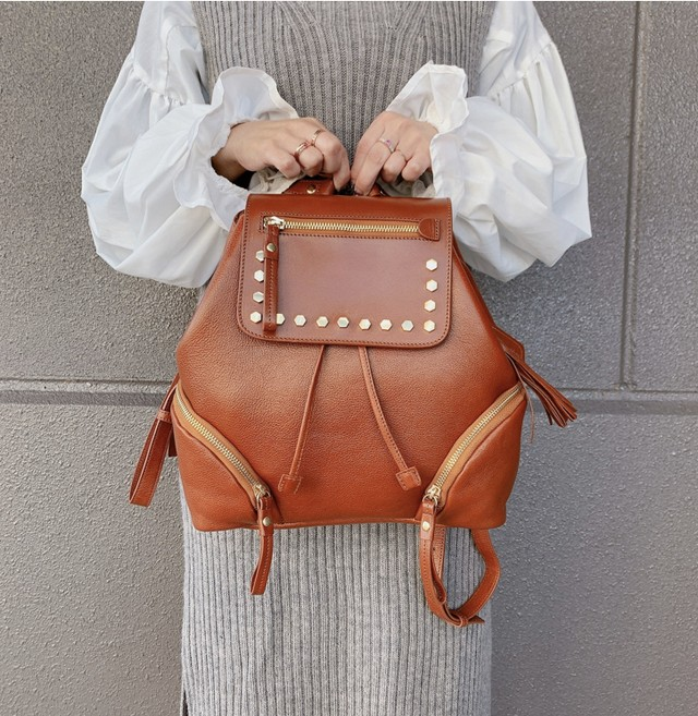 大人可愛いLONDON STYLE MINI RUCK (london style mini ruck)~当店オリジナル革製品ブランド、Genuine Leather