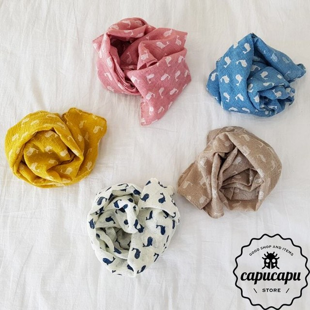 «sold out» Whale scarf 5Colors