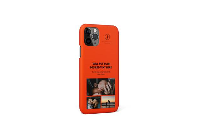 あなたの写真で作るオリジナルiPhoneケースB / 多機種対応可 / 文字色・ケース色変更可