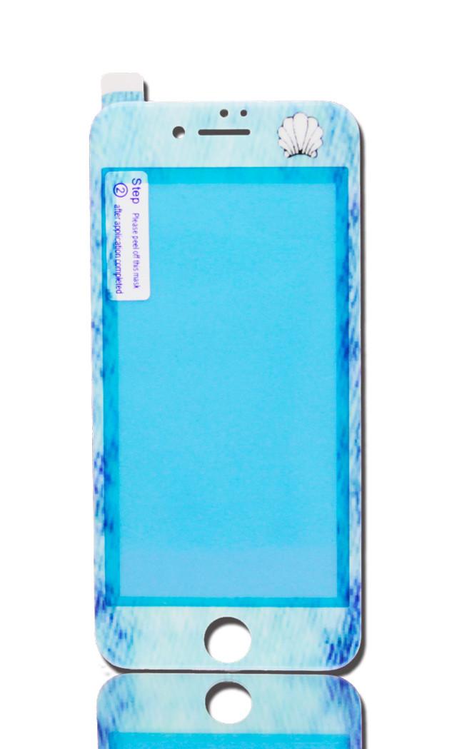 iPhone液晶カバー|デニム & シェル