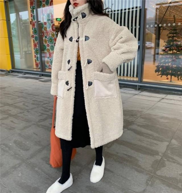ボア ダッフル風 ハイネック コート ロング丈 アウター トレンド あったか 防寒 レディース ファッション 韓国 オルチャン