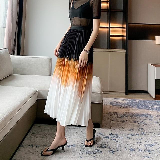 即納 Gradation pleats skirt KRE622