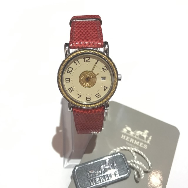 on sale 2543d 2ab2b 新作割★ HERMES コンビカラー 文字盤 オフホワイト 腕時計 エルメス watch | J&marmie powered by BASE