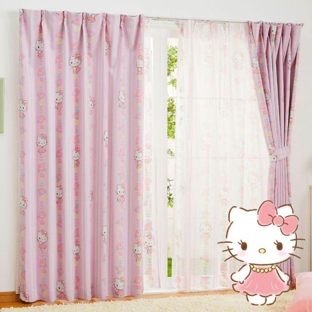 キティ 遮光カーテン (幅100×135cm丈)【送料無料】