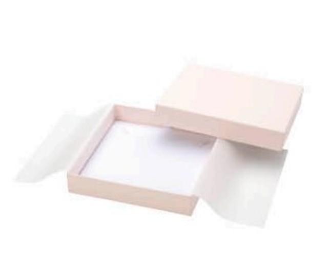 アクセサリー紙箱かぶせ式タイプ ネックレス・オメガネック用台紙付き 6個入り PC-373-N