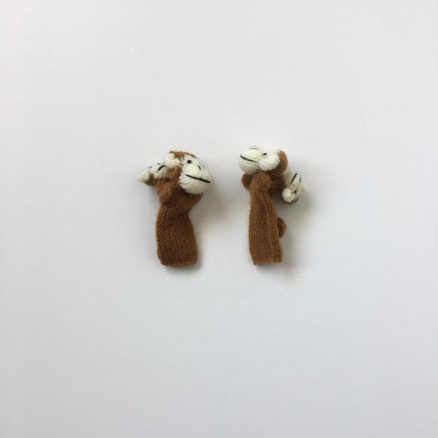 ペルー製 指人形 サルの親子