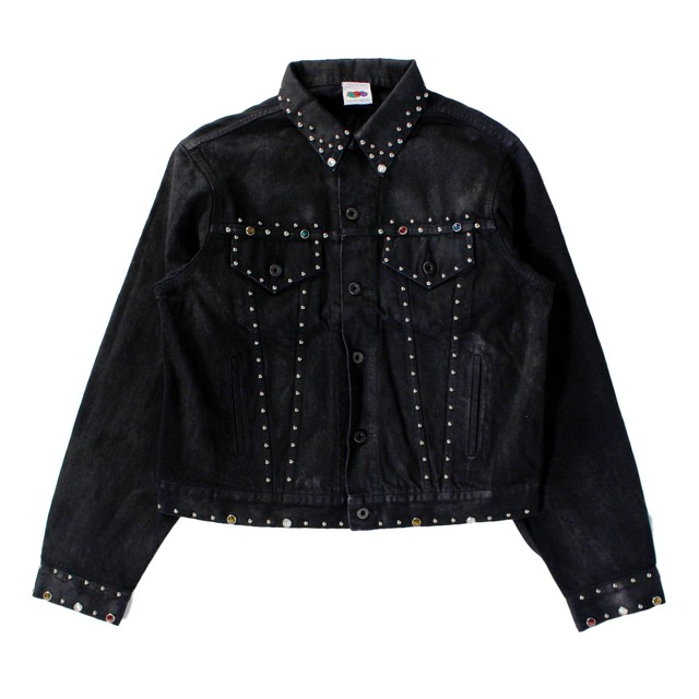 UNEVEN FRUITS Stud Denim Jacket