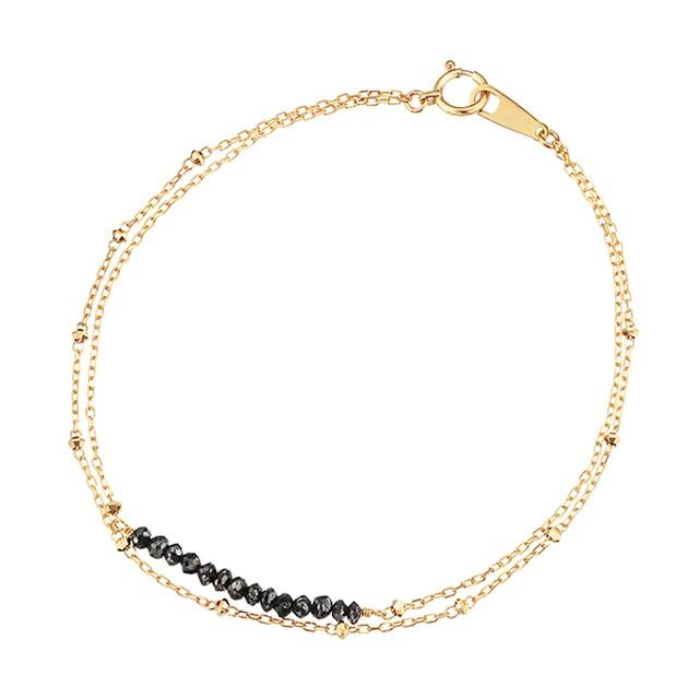 K18YGブラックダイヤモンドブレスレット 040201001289