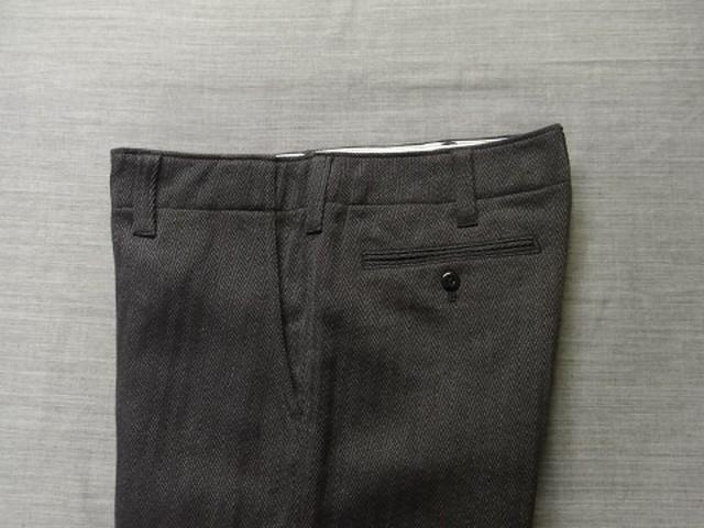 factory herringbone pants / darkgrey