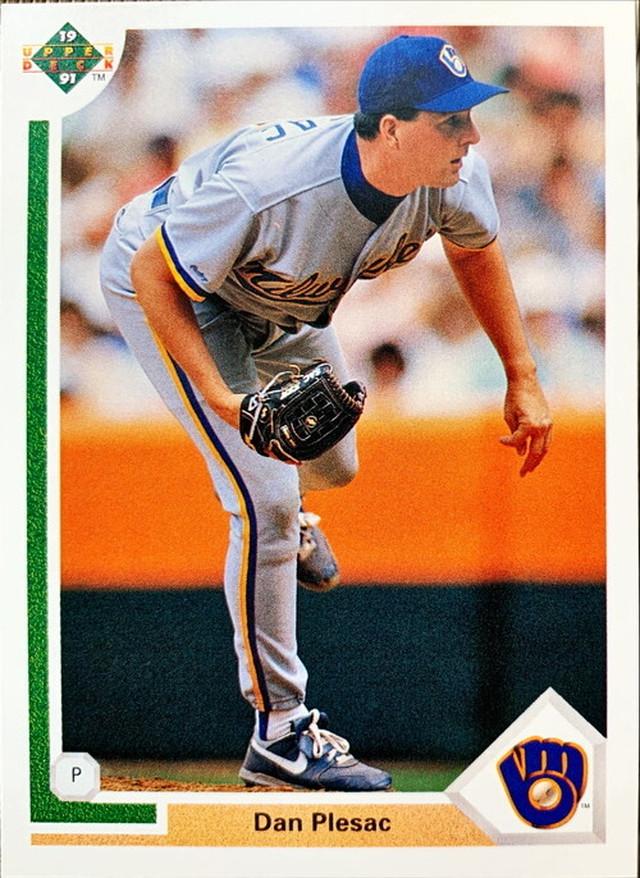 MLBカード 91UPPERDECK Dan Plesac #322 BREWERS