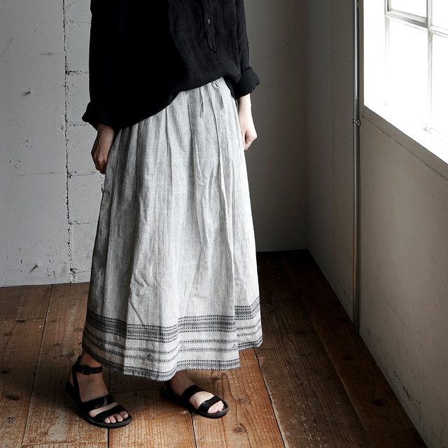 ancient cotton skirt - black -