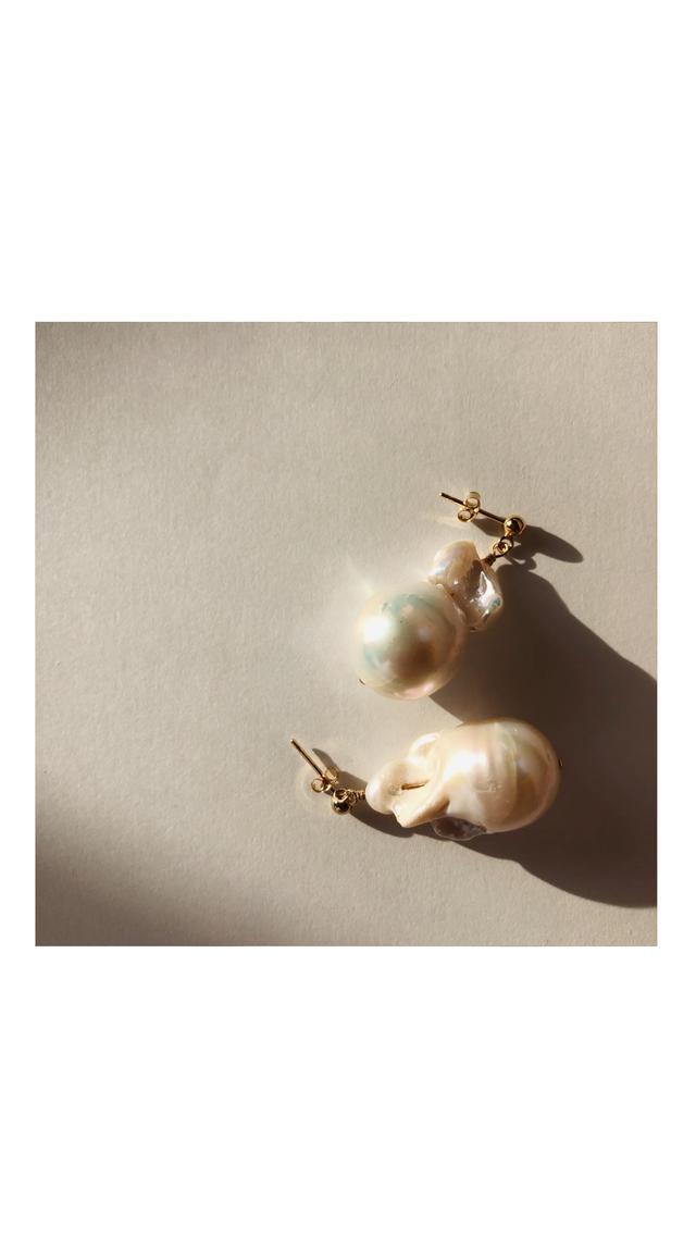 Simple Baroque Pearl Pierce