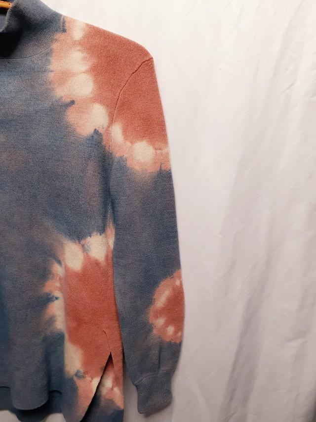 手染めのセーター(藍染&ベンガラ染め)