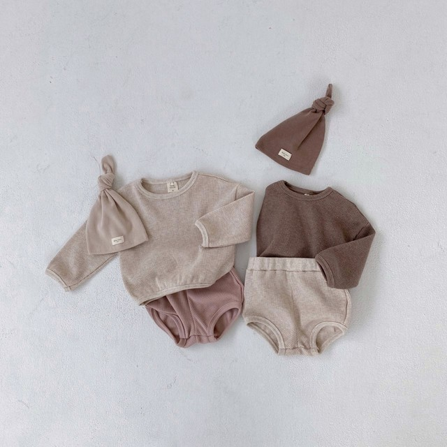 Baby waffle tops&bloomers