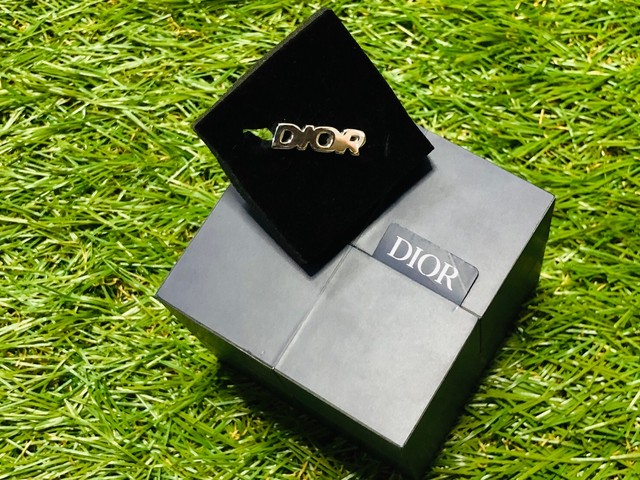 20SS DIOR LOGO RING SILVER MEDIUM 130JG7329
