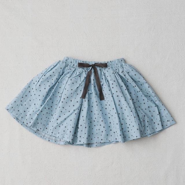 星柄水色スカート