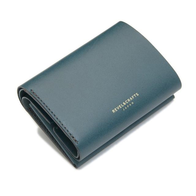 2.5折コンパクト財布 - MINI 2 ブルー