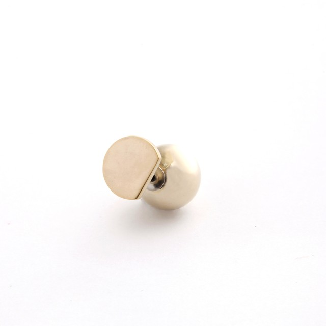 MAYU/PEARL RIVETS/Small Circle mat Gold 14mm Gold ba 片耳