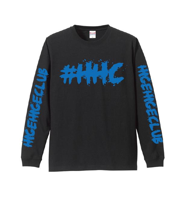 [PRE ORDER] #HHC[髭髭倶楽部] / HHC L/S tee [BLACK/BLUE]