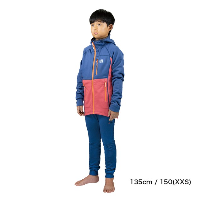 Kids 130 / UN3100 Mid weight fleece hoody / Red