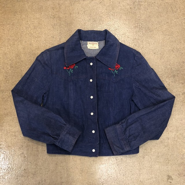 Vintage Embroidery Denim Jacket ¥7,800+tax