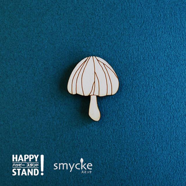 smycke 《キノコ B》塗り絵 木製パーツ