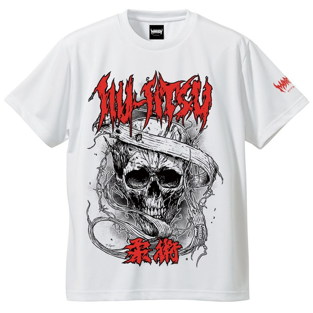 【DRY】JIU-JITSU-柔術 DRY T-shirts (White×LogoRed)