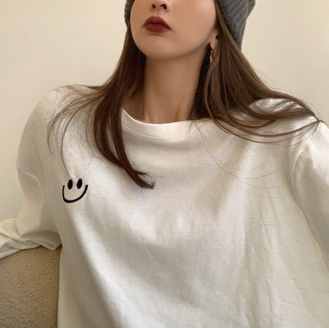 Smiley logo long tee LD0523