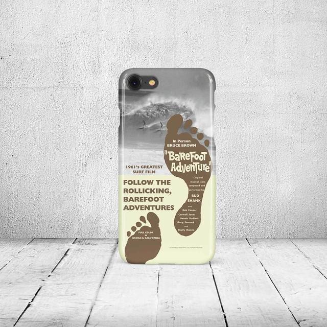 iPhone7 & 8ケース・ブルースブラウンフィルム・Barefoot Adventure