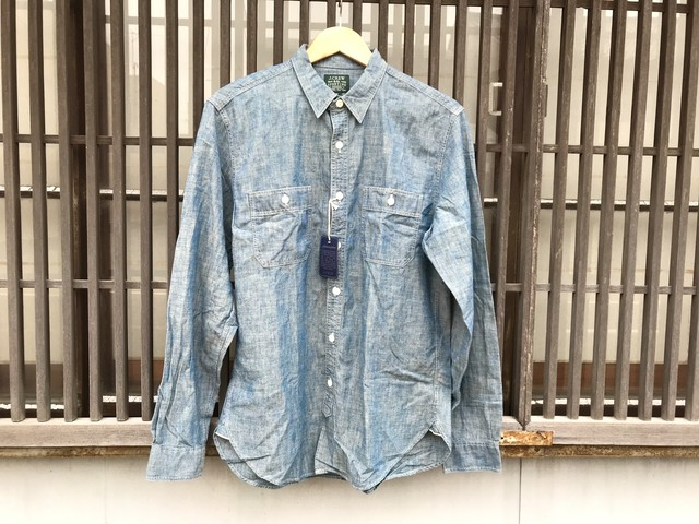 J.CREW CHAMBRAY SHIRT (BLUE)