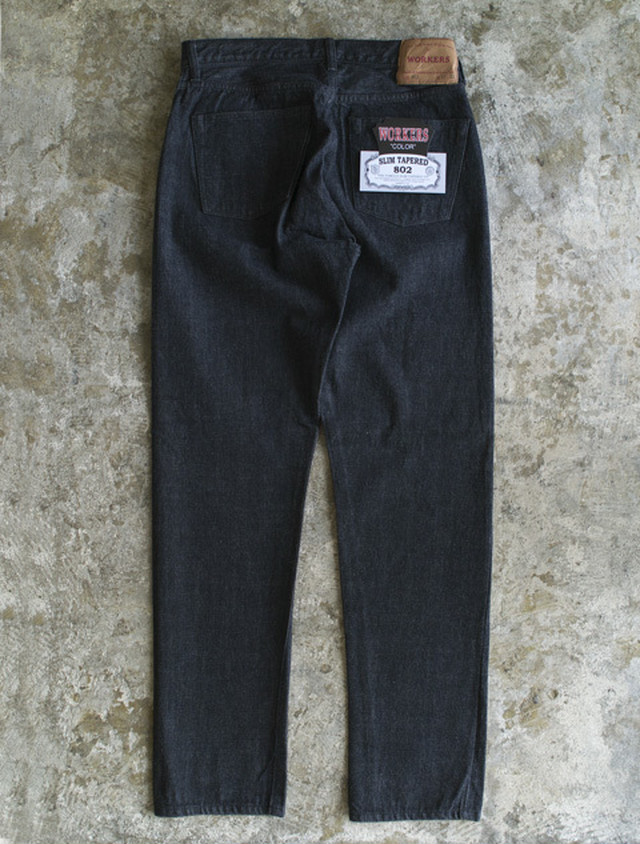 WORKERS ワーカーズ Lot 802 Black Jeans スリムテーパードジーンズ