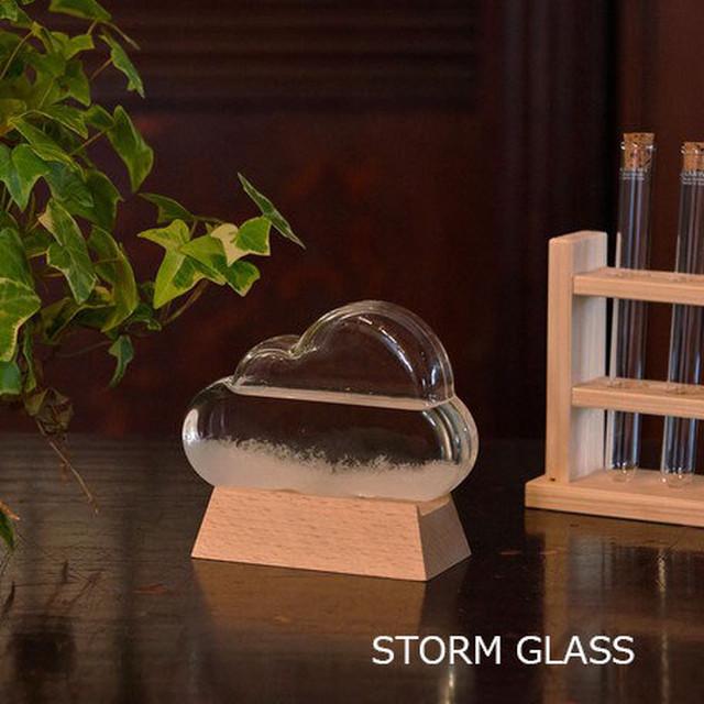 【近日入荷予定/入荷次第ご発送します。】【インテリア気象予報】STORM GLASS ストームグラス(クラウド/雲)【Fun Science】