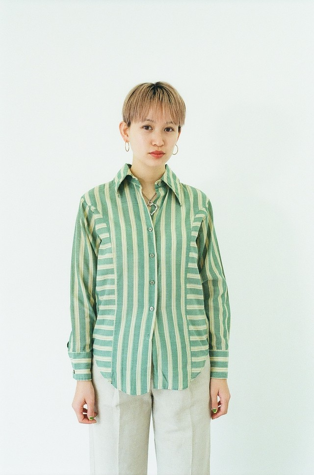Green stripe shirts