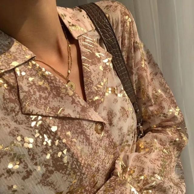 cosスネークブラウス ブラウス 韓国ファッション