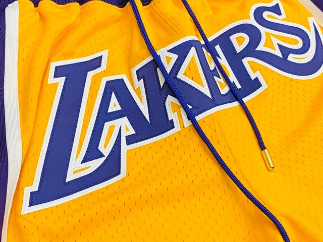 JUST DON MITCHELL&NESS LAKERS BASKETBALL SHORT LARGE 300JH7984