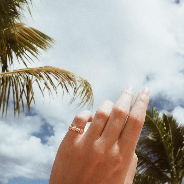 Hawaiian Flower Ring《PGD/SLV》19380001【2号/9号】