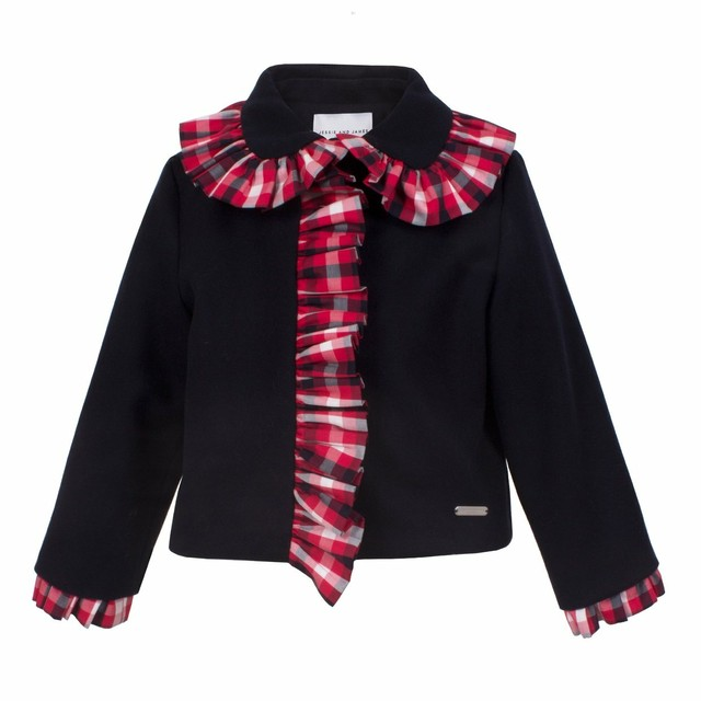 【NEW】FRILLY JACKET RED CHECK =JESSIE AND JAMES =