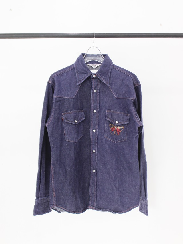 Used Embroidery Denim Western shirt