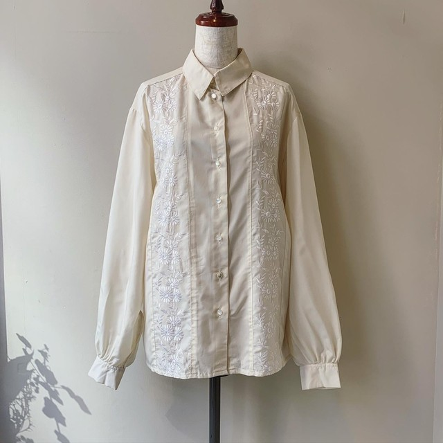 vintage flower embroidery shirts