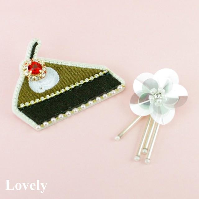 【ブローチ】チョコレートケーキ ブローチ セット