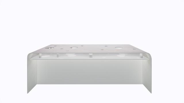 ターブル・ペルフォレ (白) - Table Perforée (White)-Width 2200mm