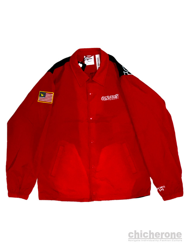 【MARK GONZALES】 Mixprint COACHES JACKET RED